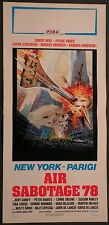 Locandina NEW YORK PARIGI AIR SABOTAGE 78 ROBERT REED, PETERS BROCK 1977