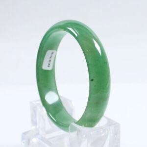 66mm Certified Grade Natural Emerald Green Dongling jade Gems Bangle Bracelt 300