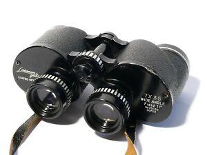 Vintage Pair Binoculars Lieberman & Gortz 7x35 Field in a/f Case #PE2