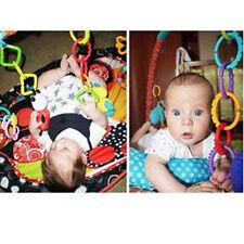 Rainbow Teether Ring Links Plastic Baby Kids Stroller Gym Play Mat Toys popular