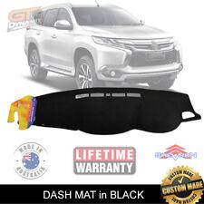DASH MAT for MITSUBISHI PAJERO SPORTS GLX GLS VRX EXCEED 1/2016-19 DM1393 BLACK
