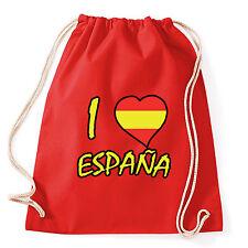 Art T-shirt, Zaino I Love Spagna, Rosso,Sacca Gym