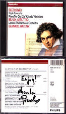 Menahem PRESSLER Signiert BEETHOVEN Triple Concerto BEAUX ARTS TRIO HAITINK CD