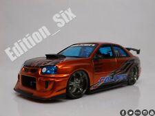 Jada Toys 1:24 SUBARU IMPREZA WRX STI Falken tyres Orange Jdm sports car a