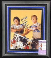 CHiPs TV Framed Signed 11x14 Larry Wilcox Eric Estrada JSA Autographed Signature