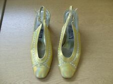 Ladies Shoes Pellini golden/metalic slingback size UK 3.5, EU 36, Italian 3370