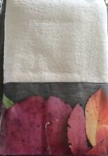 2 Stunning White Towels-Beautiful Print Border-Made in Italy-perfect For Guests