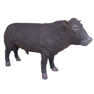 LIFE SIZE BLACK ANGUS BULL FARMYARD CATTLE BUTCHER INDOOR/OUTDOOR ADVERTISING
