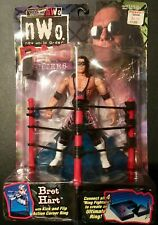 1999 Toy Biz WCW/nWo Ring Fighters Bret Hart Action Figure WWE WWF UNOPENED NIB