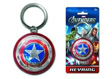 AVENGERS CAPTAIN AMERICA SHIELD PEWTER KEYRING KEYCHAIN OFFICIAL MOVIE MARVEL