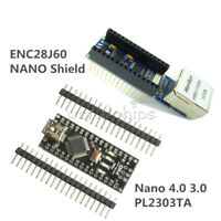 USB Nano V3.0 4.0 Atmega328P Board +ENC28J60 Ethernet Shield Module for Arduino