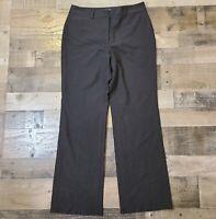 Talbots Black Womens Size 8 Regular Solid Flat Front Heritage Boot Dress Pants