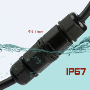 2/3/4 Pole Core Joint Outdoor IP67 Waterproof Electrical Cable Wire Connector