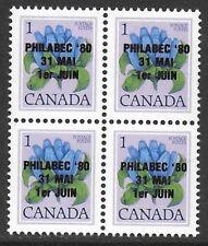 Canada #705 PHILABEC 1980 Philatelic Exhibition BLOCK #cc1315.7a VF-NH CV $32.00