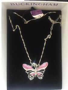 Buckingham Jewellery Butterfly Necklace *New Boxed*