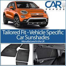 Fiat 500X 5dr 2014 on UV CAR SHADES WINDOW SUN BLINDS PRIVACY GLASS TINT BLACK