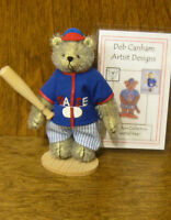 "DEB CANHAM Artist Designs BASEBALL BEAR Collectors Coll 3.75""  From Retail Store"