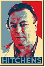 CHRISTOPHER HITCHENS ART PHOTO PRINT (OBAMA HOPE) POSTER GIFT CHRIS ATHEISM