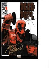 Deadpool #1 MEXICAN FOIL EDITION signed by Mark Waid NM+