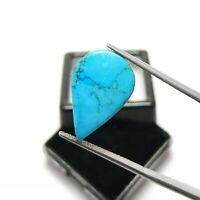 Natural Cabochon Kingman turquoise Arizona 10.40 Ct Top Loose Gemstone Ring Size
