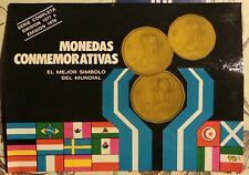 6  COINS  in blister WORLD CUP SOCCER 1978  ARGENTINA
