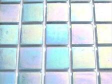* 75 Piastrella Foglio AZZURRO POLVERE IRIDESCENTE 20mm le piastrelle a mosaico *
