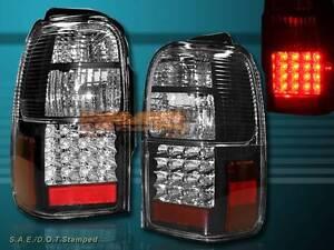 1996-2000 TOYOTA 4 RUNNER L.E.D. TAIL LIGHTS REAR BRAKE LAMPS SR5 BLACK