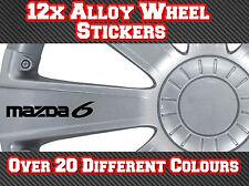 12x Mazda 6 Vinyl Stickers Decals for Alloy Wheels, Door Handles, Mirrors etc