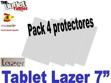 "Pack 4 Protectores pantalla para Tablet LAZER de 7"" 7 pulgadas Universal"