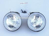 "UNIVERSAL 12v CLEAR ROUND FOG SPOT LIGHTS LAMPS LIGHT 101MM 4"" E-MARKED NEW"