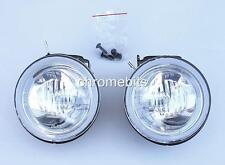 "UNIVERSAL 12v CLEAR ROUND FOG SPOT LIGHTS LAMPS LIGHT 101MM 4"" E-MARKED NEW"