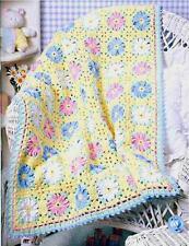 Crochet Pattern Baby Pram Blanket Pretty Daisy