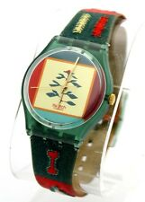 SWATCH AG1993 Poncho GM122 Embroidered Nature Scene Retro Hippy Watch T9
