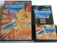THUNDER FORCE 3 III SEGA MEGA DRIVE (Genesis ) Shooter game Cartridge set -B-