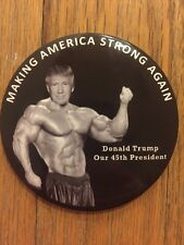 "2017 President Donald Trump Inauguration 3"" Button ""Making America Strong Again"""