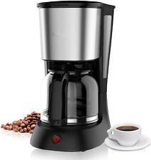10 Cup Coffee Maker with Glass Carafe,Black