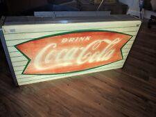 Coca Cola Sign Vintage Light-Works! 36.5 x 18 x 7