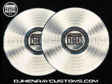 DHC Platinum Record Dj Slipmats sl1200mk2 mk5 m3d m5g Technics / any turntable