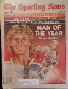 1982 Sporting News Wayne Gretsky Dwight Clark Fouts Klecko Ainge RARE Ads