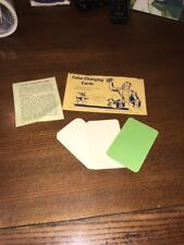 1950s Magic Trick Set Distributed By Theron Fox San Jose California Color Cards