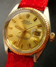 Rolex ♛ Oyster Datejust 1601 Stahl/Gold 18K 750 Automatik Chronometer 36mm 1975