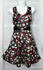 Flying Tomato Jealous Tomato Rockabilly Cutout Sides Twirl Hem Flirt Dress M NWT