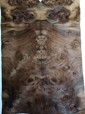 CONSECUTIVE SHEETS OF AMERICAN BURR WALNUT VENEER 20 X 27 cm AW#221 DASHBOARD