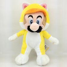 "Super Mario Bros 3D World Cat Mario Yellow Suit Soft Plush Toy Stuffed Animal 9"""