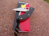 SPYDERCO SPRINT RUN PPT CARBON FIBER FOLDING KNIFE S90V BLADE C135CFP