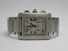 CARTIER 2303 TANK FRANCAISE CHRONOGRAPH STAINLESS STEEL MENS/UNISEX WATCH
