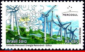 3221 BRAZIL 2012 RENEWABLE ENERGY, MERCOSUR ISSUE, AEOLUS, MYTHOLOGY, C-3219 MNH