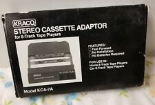 Vintage Kraco Stereo Cassette Adaptor For 8 Track Tape Players