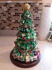 "Thomas Pacconi Classics Christmas Tree Blown Glass Figure 16"" Tall"