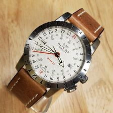 Glycine Airman Watch Base 22 White Dial Classic GMT